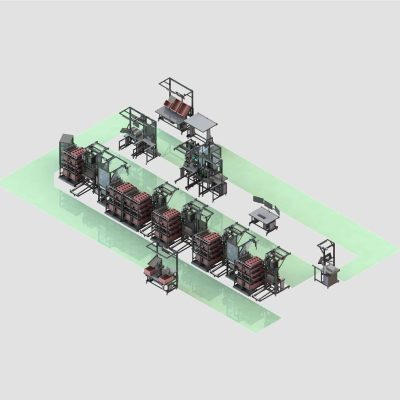 Assembly line for inverters