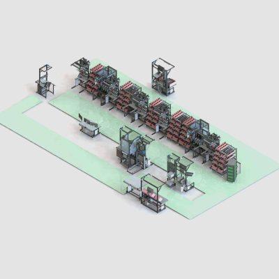Montagelinie für Wechselrichter