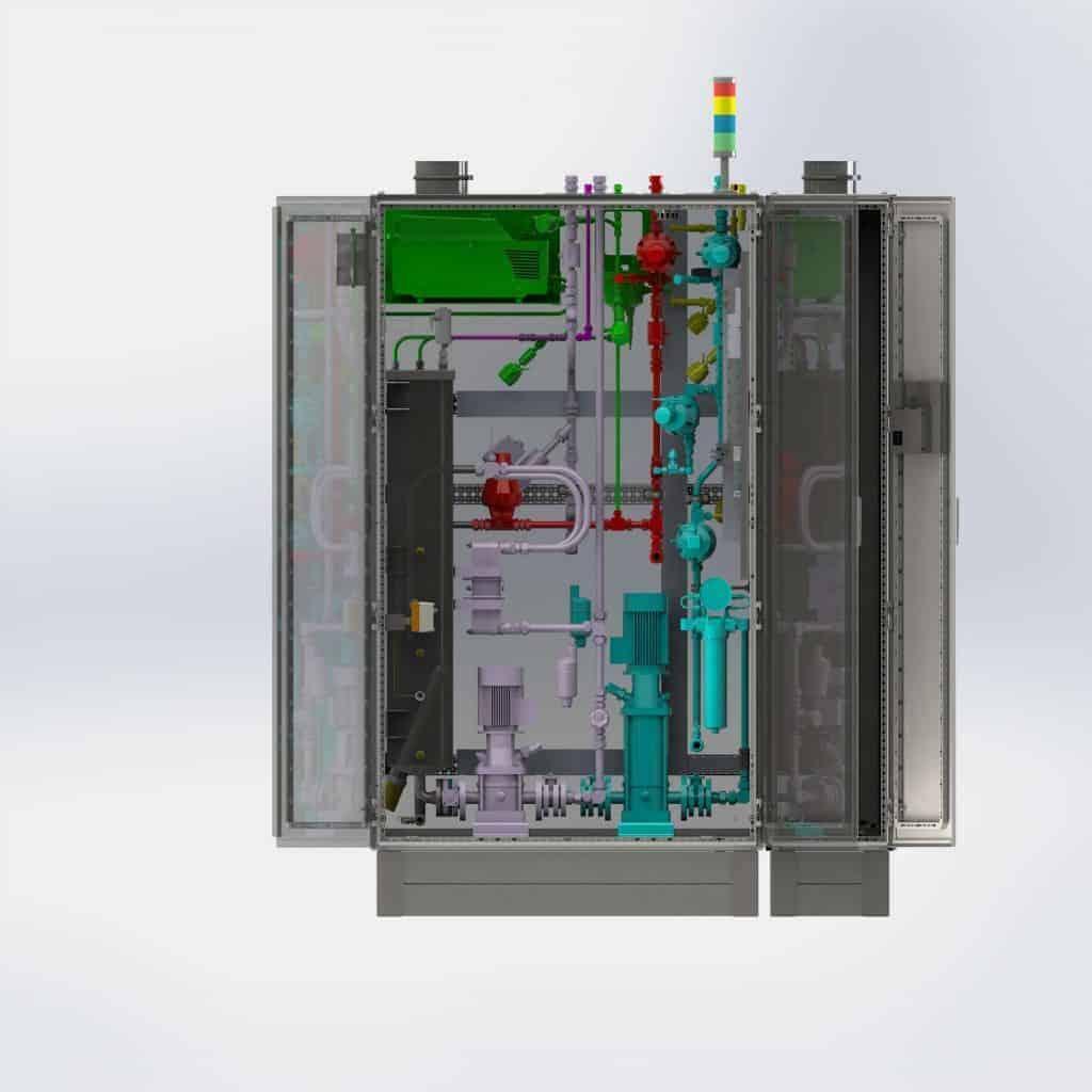Kühlsystem für E-Teststand