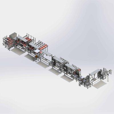 Voltage converter assembly line